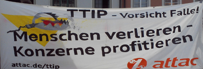 Attac gegen TTIP | CC BY 3.0 Michael Renner
