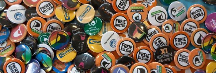 Buttons | CC BY 2.0 Piratenpartei Deutschland