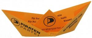 Piratenpartei-Flyer als Schiff |Piratenpartei Deutschland||CC BY 2.0|