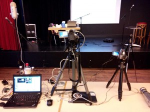 Streaming-Equipment des #lpthh: zwei Videokameras und drei Webcams | CC BY Michael Vogel