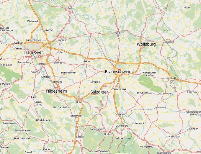 Raumentwicklung in Niedersachsen | CC-BY-SA OpenStreetMap