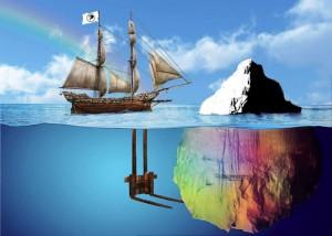 Spitze eines Eisbergs der kollektiven Willensbildung | CC BY 2.0 Jano Nymous