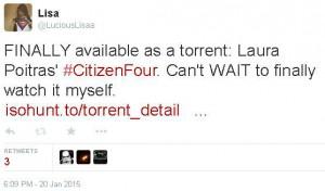 Tweet der aufgrund einer Urheberrechtsbeschwerde zensiert wurde