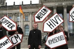 Kritik an der Vorratsdatenspeicherung vor dem Reichstag | CC BY 2.0 ozeflyer via flickr