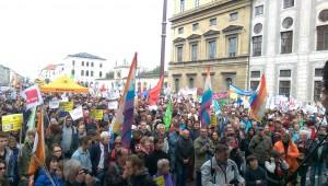 Blick von der Bühne - 23.000 Münchner gegen TTIP | CC BY 2.0 Nicole Britz