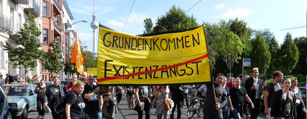 Basic Income Demonstration in Berlin | CC-BY-SA-2.0 stanjourdan via flickr