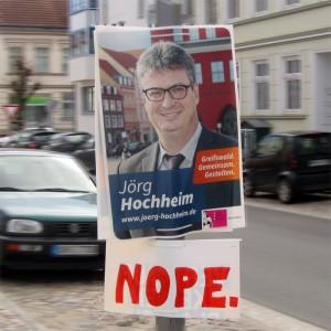 Wahlverlierer Jörg Hochheim | CC BY NC SA 4.0 Fleischervorstadt-Blog