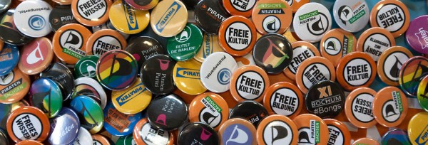 Buttons | CC BY 2.0  Piratenpartei Deutschland