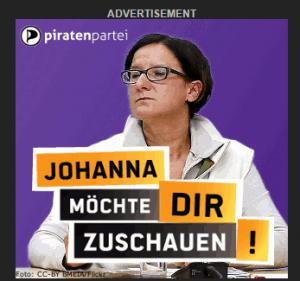 Werbebanner der Piraten Österreich | Quelle: Screenshot