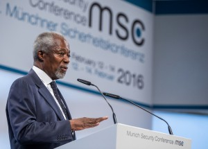 Opening Statement by Kofi Annan (former Secretary General of the United Nations; Chairman, Kofi Annan Foundation; Nobel Peace Prize Laureate 2001) | Bildquelle: MSC / Mueller
