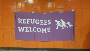 Refugees welcome | CC BY @FrauMaja