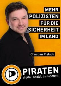 Wahlplakat mit Christian Pietsch für die LTW 2016 in Baden-Württemberg