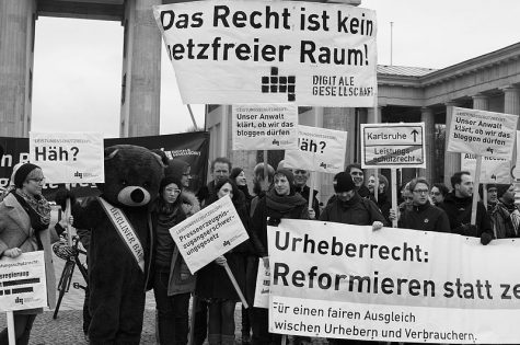 Abmahnwache Leistungsschutzrecht des Vereins Digitale Gesellschaft e.V. | CC BY 2.0 Digitale Gesellschaft via wikimedia commons