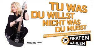 Freiheit und Netzpolitik sind nur einige unserer Themen | CC BY Piratenpartei Deutschland