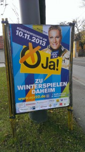 Pro Olympia Plakat in München | CC BY 3.0 Michael Renner
